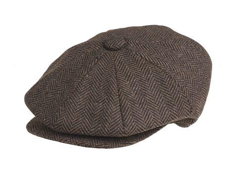 Herringbone Newsboy Cap peaky blinders 100 wool brown herringbone newsboy cap