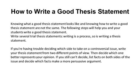 how do you write a thesis paper what is a thesis statement ppt