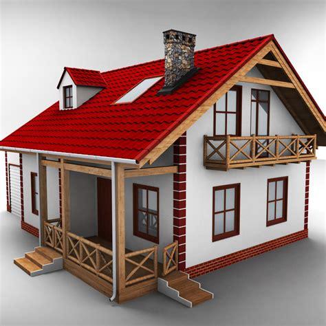 villa exterior 3d model 40 complete success clipgoo house 3d model