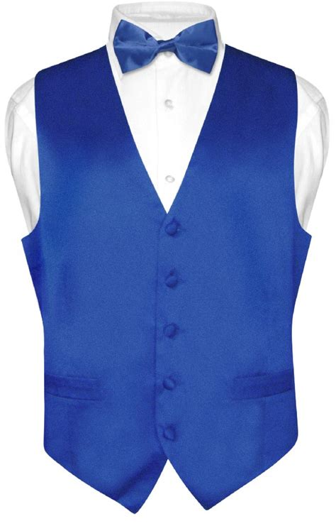 Bow Window Sizes biagio men s silk dress vest amp bow tie solid royal blue