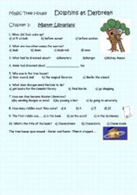 Magic Tree House Worksheets worksheets magic tree house dolphins at daybreak