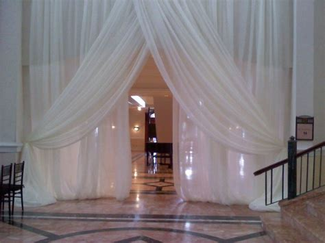 wedding drapery backdrop wedding sheer drape curtain 12 x116 quot white ivory for