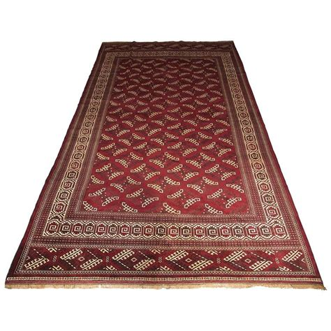 quality rugs and furniture high quality yomut turkmen large wool carpet dyrnak gul design for sale at 1stdibs