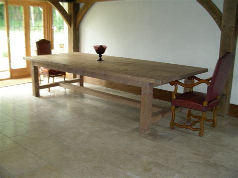 white oak 16 seater handmade refectory kitchen table