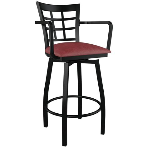 bar stools swivel with back window back swivel bar stool with arms