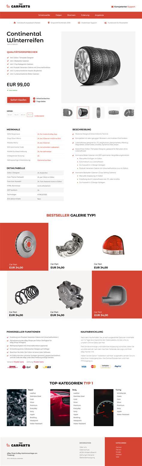 Auto Teile Ebay by Ebay Vorlage F 252 R Autoteile Kfz Branche Threendy