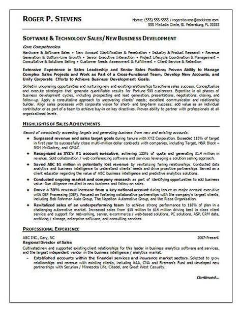 Resume Sles Technologist Technology Sales Resume Best Resume Gallery