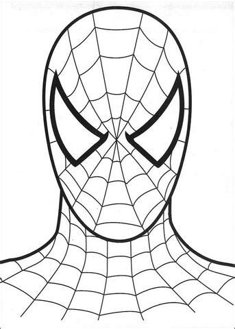 Spiderman Head Coloring Page | the head of spider man coloring page free printable