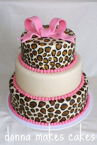Cheetah Print Baby Shower Decorations by Pink Cheetah Cake Animal Print Baby Shower Ideas For