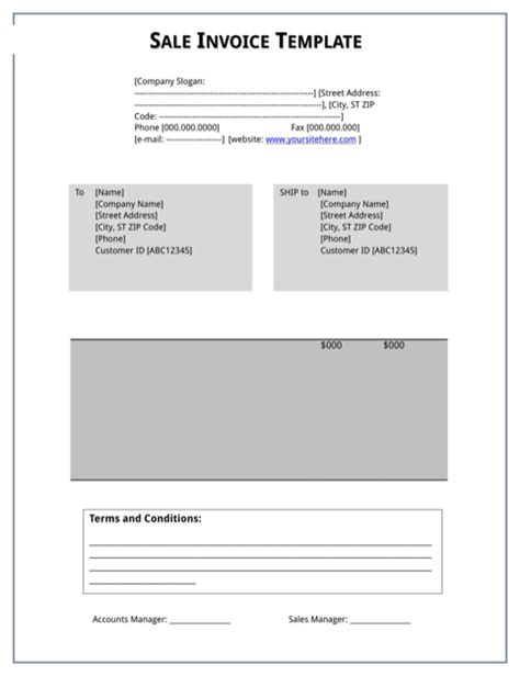 sle invoice to download download sales invoice for free formtemplate