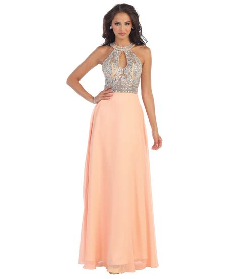 chiffon gown with beaded bust designers