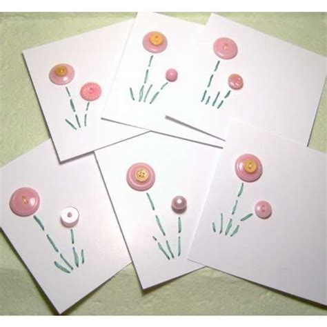 Handmade Cards With Buttons - handmade button cards photo cards