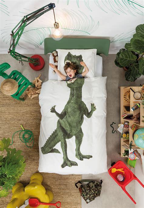 parure de lit 1 personne dinosaurus rex 140 x 200 cm