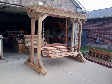 how to build a freestanding porch swing arbors and stands