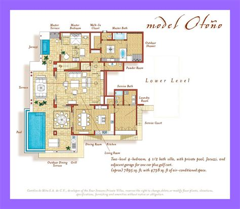 4 Bedroom House Floor Plans Four Seasons Private Villas Punta Mita Luxury Real Estate