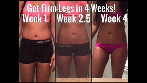 4 and one month to toned thighs how to toned legs in 7 minutes a 4 week