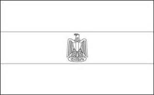 Egyptian Flag Eagle Coloring Coloring Pages