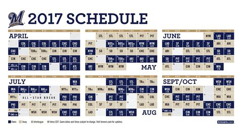 printable brewers schedule milwaukee brewers tv schedule autos post