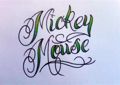 draw    word    tattoo style script