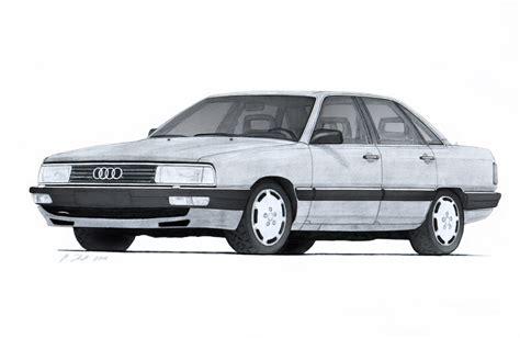 Audi 200 Turbo Quattro by Audi 200 Turbo Quattro 44q Drawing By Vertualissimo On