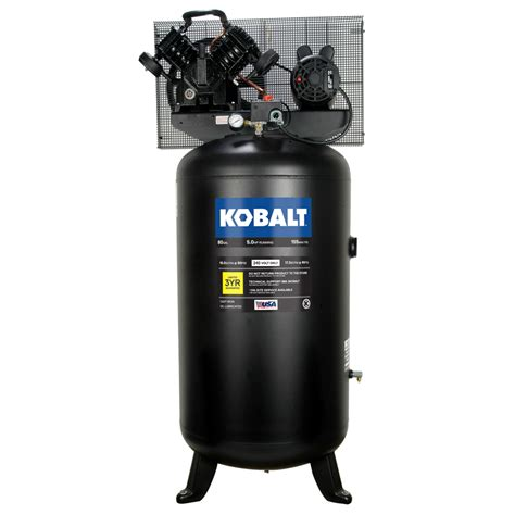 Stand Galon Air shop kobalt 80 gallon electric vertical air compressor at