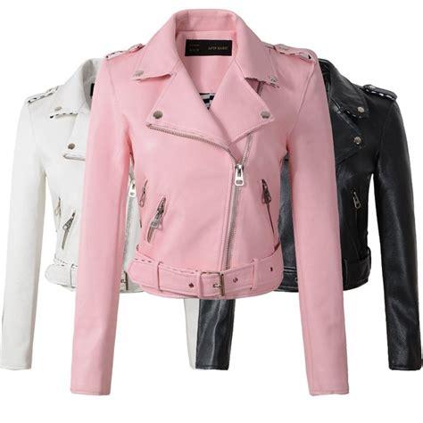 ropa de cuero chaquetas de cuero de mujer 2018 temporada de la moda
