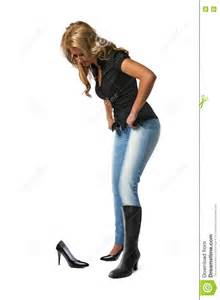 woman trying new shoes stock photo image 73259661