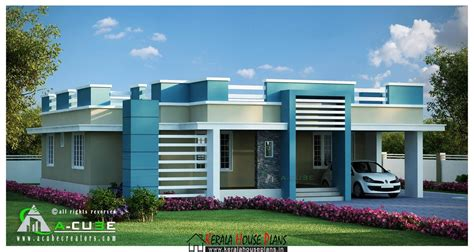 floor house beautiful kerala single floor contemporary house design