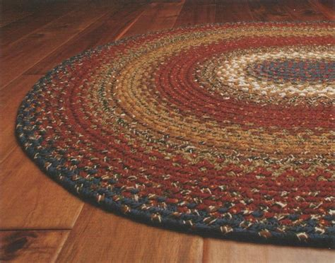 braided floor rugs cotton braided area floor rug oval burgundy blue rustic cottage cabin ebay
