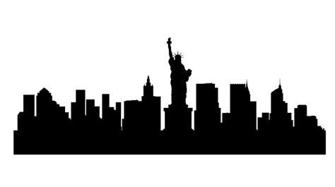 Sticker Oracal 8300 Transparent Gentian Blue New York Skyline Wall Stickers Wall Sticker