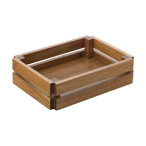 small crates crates small wooden crate acacia 22x16cm 8 75x6 55 quot noble express