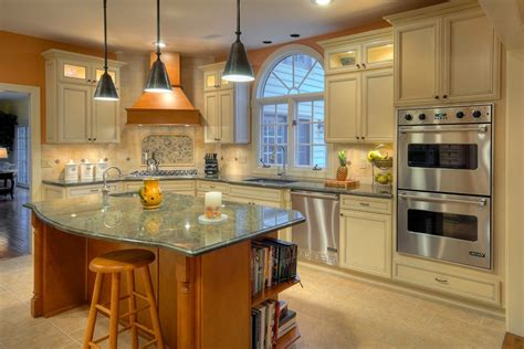 philadelphia kitchens  cream colored cabinets kitchen traditional tile floor faux leather
