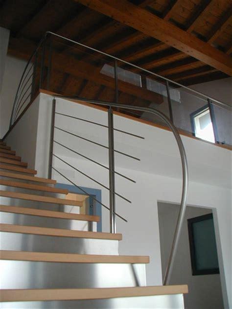 ringhiera vetro e acciaio ringhiera in acciaio inox satinato e vetro idealferro