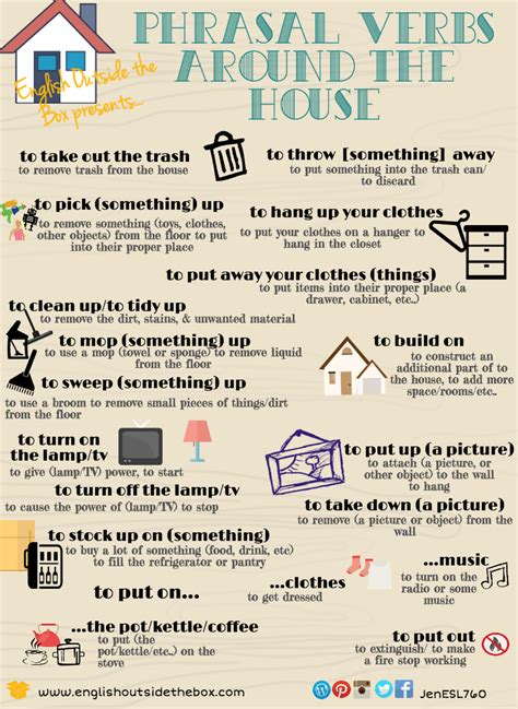101 not out c language books phrasal verb friday actions around the house