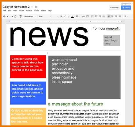 Newspaper Template For Google Docs 2018 World Of Reference Advertisement Template Docs