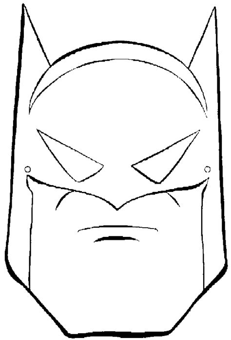 Batman Mask Coloring Page batman coloring pages on coloringpagesabc