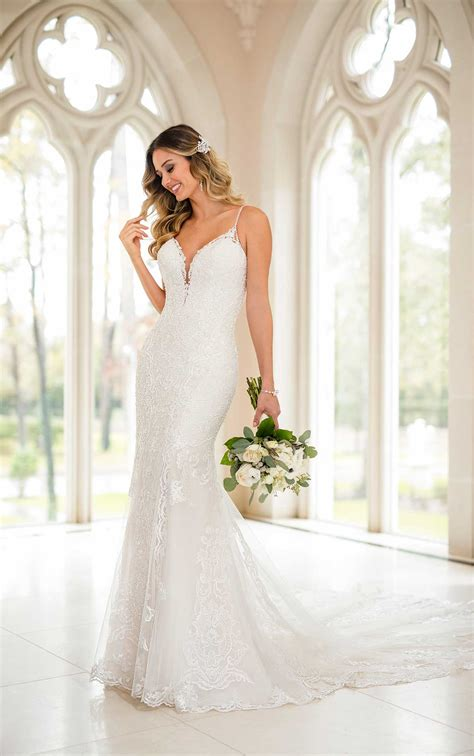modern fit  flare wedding dress stella york wedding gowns