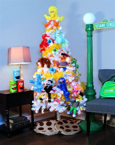 sesame stree theme christmas tree pop culture christmas