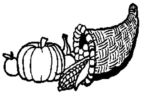 cornucopia basket coloring page cornucopia pictures to color coloring home