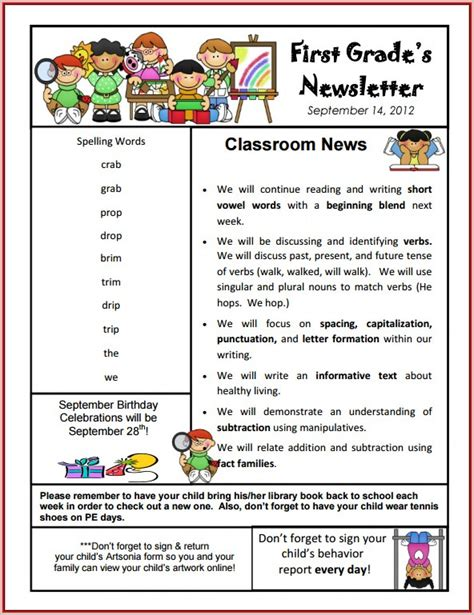 free monthly newsletter templates for teachers free editable monthly newsletter templates for teachers