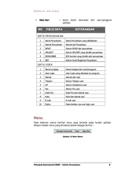 contoh buku petunjuk operasi admin perusahaan
