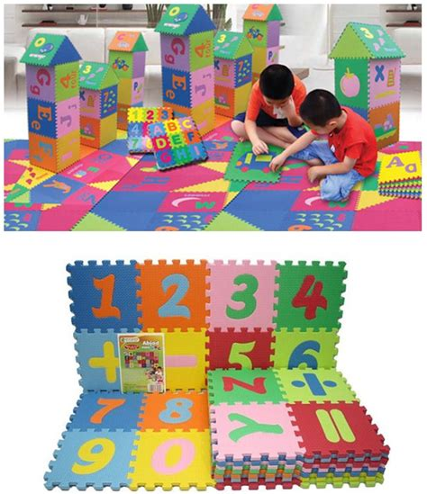 Karpet Spon jual produk kebutuhan and playmate for baby evamats karpet puzzle bright green