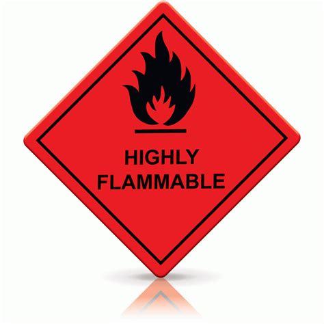 flammable home buy highly flammable labels hazard warning diamonds