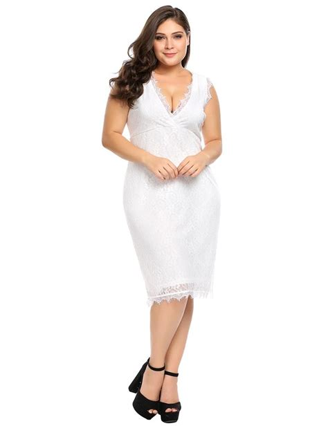 Robe Chic En Dentelle - robe chic en dentelle col v sans manches mode