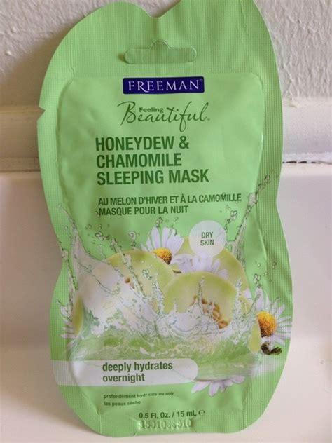 freeman honeydew and chamomile sleeping mask review