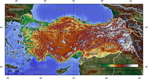 middle east map topographical map of turkey topographic map worldofmaps net