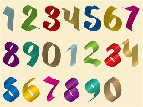 ribbon numbers vector art graphics freevectorcom