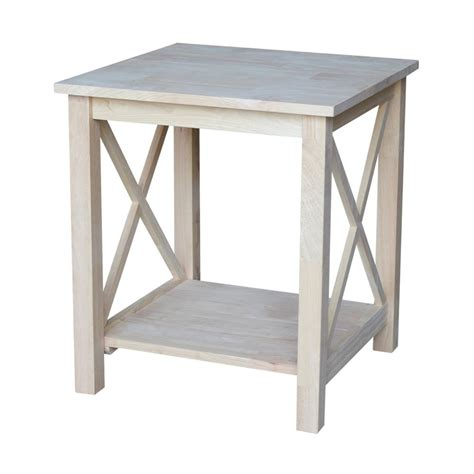 unfinished wood end tables international concepts hton unfinished end table ot 70e