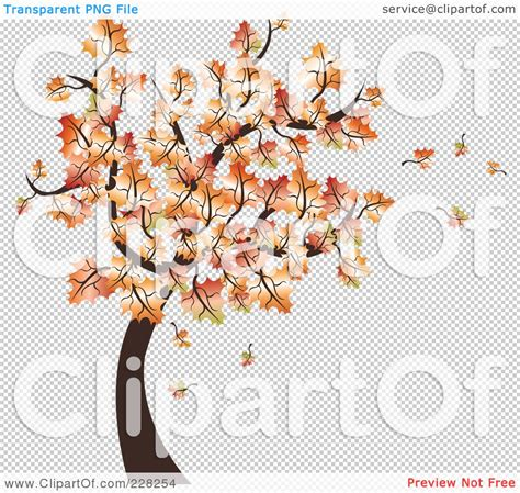 royalty free rf clipart illustration of an autumn tree