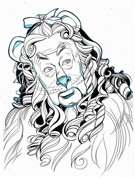 cowardly lion coloring page wizard of oz drawings of characters oz cowardly lion